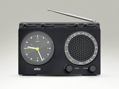 Freebie: Braun clock radio 3d minimalistic simple gui dieter rams freebie psd knob realistic practice circle