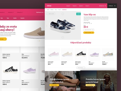 E-comerce layout button grid hover shop e-commerce ux ui minimalistic simple web webdesign layout