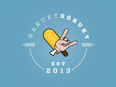 NanukyDoruky logo logo retro practice clean ice cream