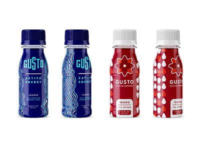 THC Energy Shots sativa marijuana identity bottle energy packaging