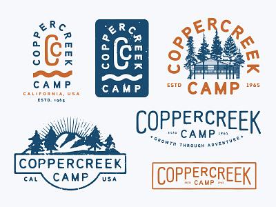 Summer Camp cedar california outdoors mountains children kids summer camp badge