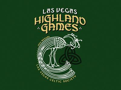 Las Vegas Highland Games gaelic illustration peacock nevada las vegas celtic games highland