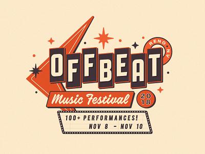 Off Beat Music Festival retro stars motel identity logo campaign festival music nevada reno
