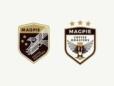 Magpie Coffee Roasters Emblems illustration world cup soccer reno nyc coffee brooklyn bird badge apparel
