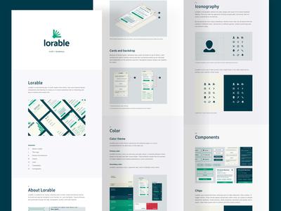 Lorable UI Kit ai icons app book logo identity storytelling guide ui ux design ui kit