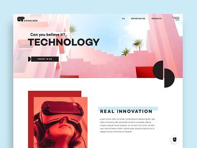 Upholder Web web ui branding tech nyc nevada reno brooklyn pink blockchain identity
