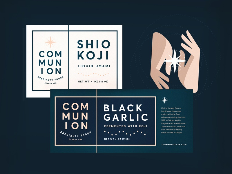 Communion Specialty Foods Packaging new york city reno nevada identity food brooklyn packaging branding hands illustration