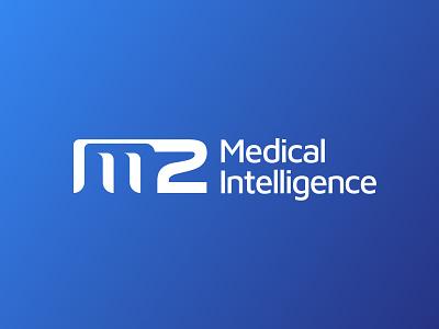 M2 Medical Intelligence logo medical new york city brooklyn reno nevada m2 lettermark wordmark branding identity