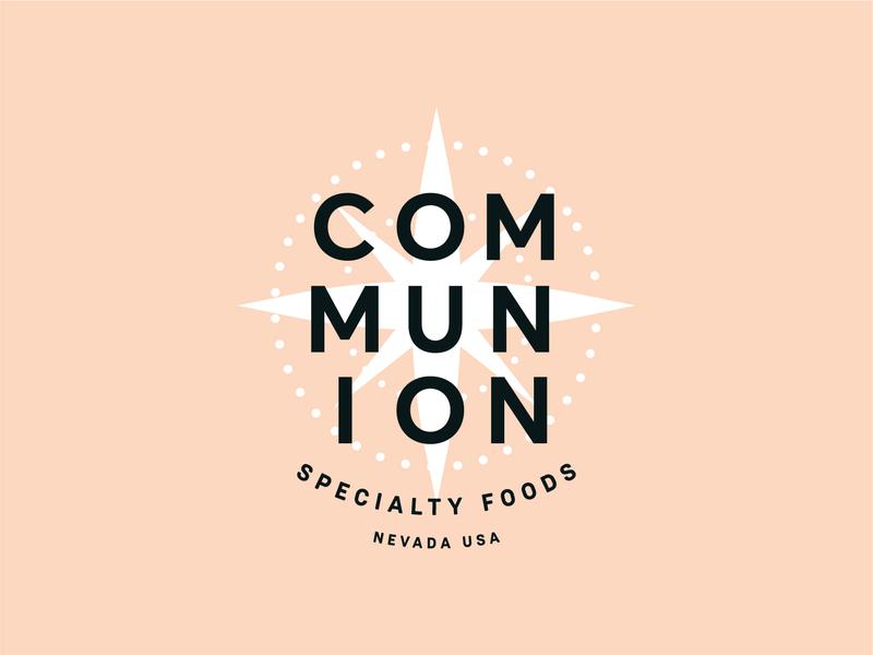 Communion Specialty Foods identity new york city branding typography star logo nyc brooklyn reno nevada