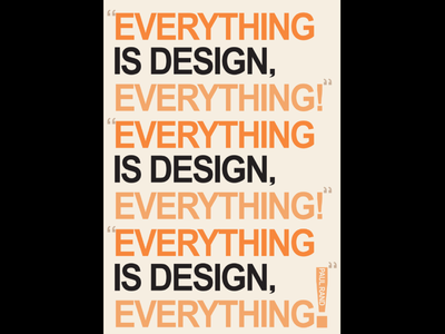 """Everything Is Design Everything"" black orange rand paul berry everything is design"