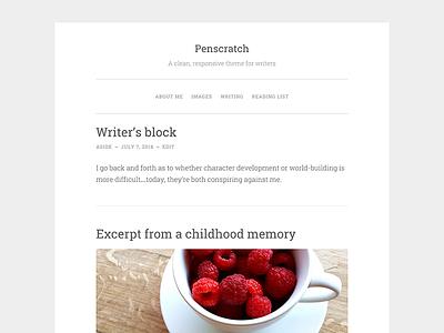 Penscratch wordpress theme design web