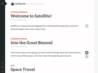 Satellite longform writing simple minimal website design theme wordpress