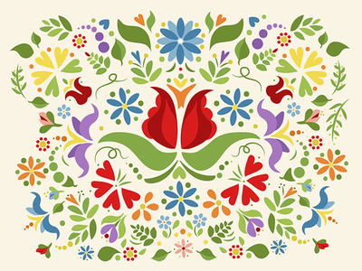 Floral Doodle colorful graphic floral illustration flowers