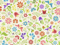 Repeating Floral Doodle