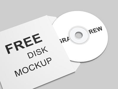 Free Compact Disk Mockup