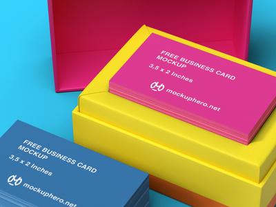 Free Business Card Mockup Vol 2