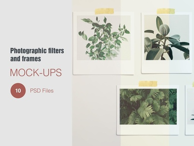 Photographic Filters and Frames Mock-ups