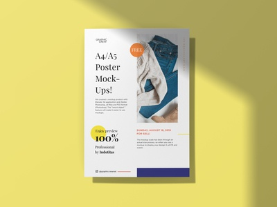 Free A4 Flyer/ Poster Mockup
