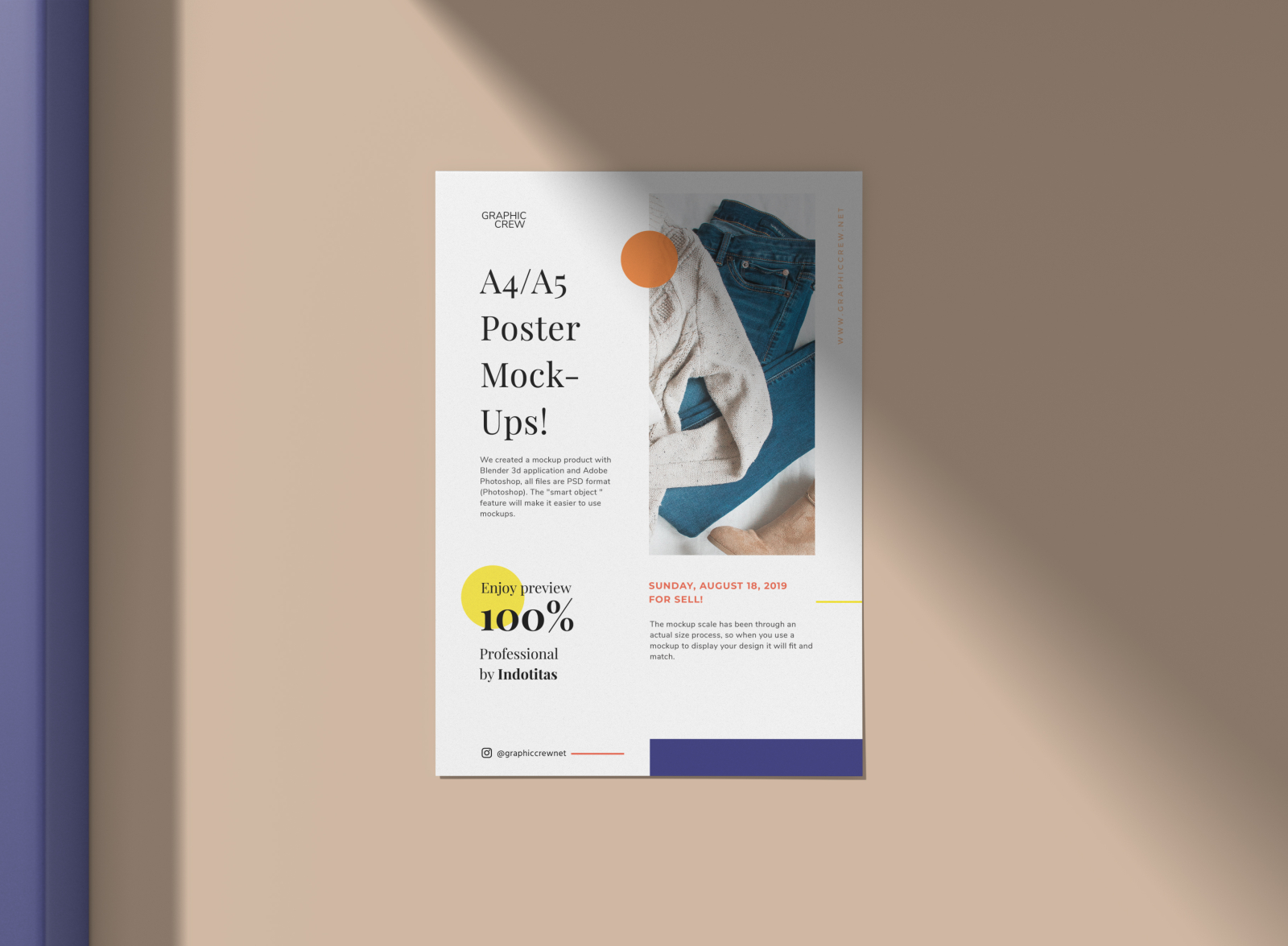 Flyer/ Poster Mockup by GraphicCrew on Dribbble