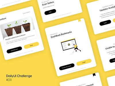 DashBack chrome Extension - DailyUI Challenge Day 011 extension chrome 011 dailyui daily 100 challenge