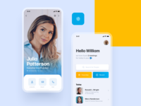 PepsiCo App 🧃 linkedin dashboard mobile design management skills layout employee detail profile search gradient head shot ui ux blue ios clean typography corporate app