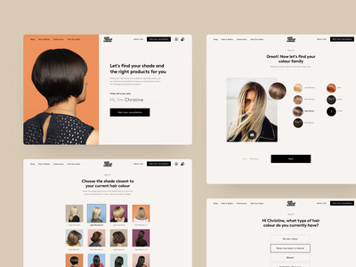 Josh Wood Colour Consultation shop colorama pastel colors questionaire personalisation swatches colours hairstyle consultation women website ux ui products pastel color colour hair beauty