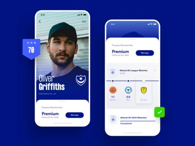 Sports Club iOS Concept