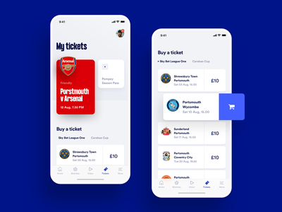 Sports Club Ticket Shop list shopping cart transaction soccer football ios sports club ticket buy eshop shop uiux ui iphone fan match