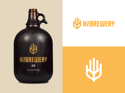HI! BREWERY growler ipa logo design beer craft beer