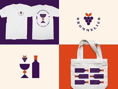 Brommelier vino vin wine tshirt design tshirt tote merch branding logo design logo