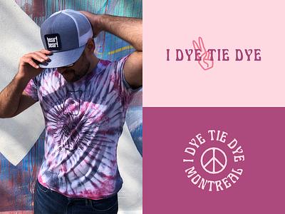 I Dye Tie Dye fashion tie dye design brand logo design logo