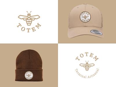 Totem Terminal Artisanal design merch branding honey logo logo design beekeeping