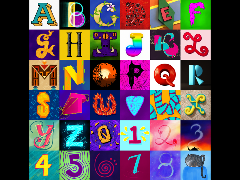 36 Days of Type All Up all numbers letters illustration hand lettering handlettering alphabet 36 days of type