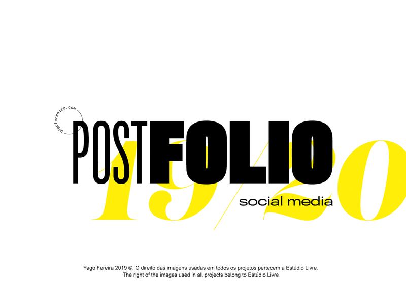 POSTFOLIO 19/20 social media brasil photoshop design art direction branding logo