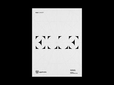 ELLE typo illustration type illustrator photoshop design art direction visual identy branding logo