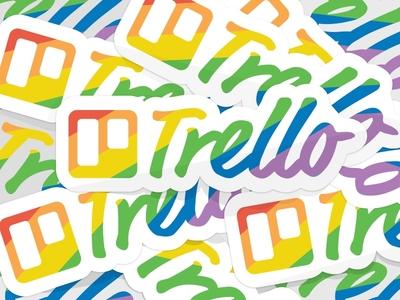 Trello Pride love support rainbow stickers pride trello