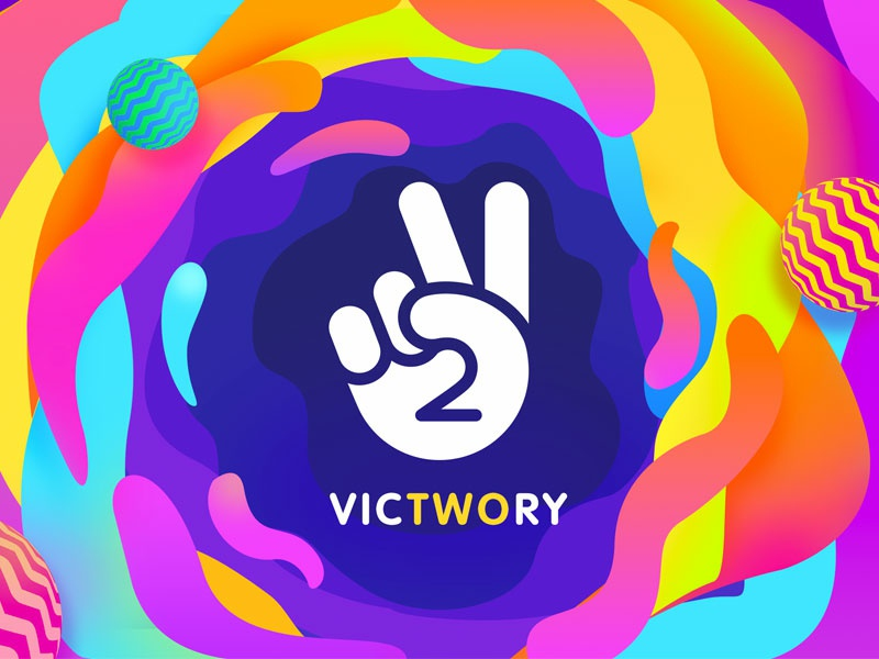 Victwory app vector illustration branding design illustrations icon logo