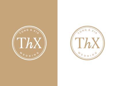 The wedding Logo of Tong & Xia