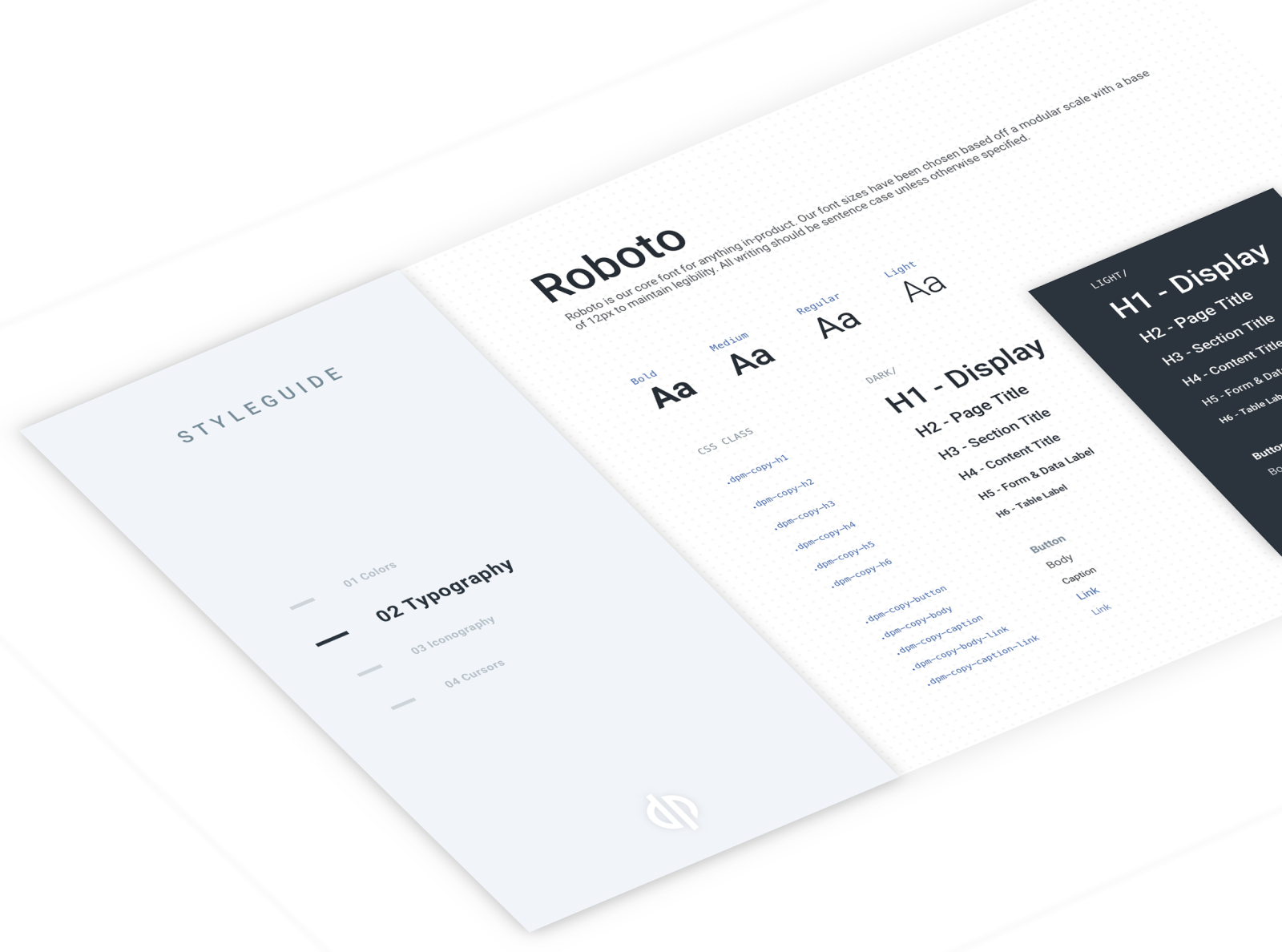 Style guide mockup by Hannah McIntyre on Dribbble