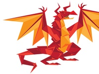 Red Paper Dragon