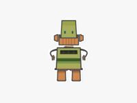 Language Robot Sticker