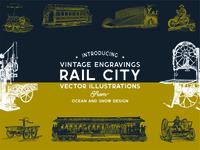 Rail City | Vintage Vector Illustrations