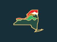 Adirondacks of New York Enamel Pin
