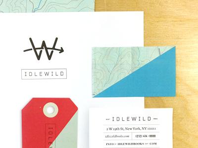 I D L E W I L D branding idlewild map diagonal typography logo monogram identity