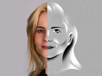 Portrait of a Business Woman illustration portrait illustration face portrait