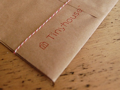 Tiny tinyhouse packaging bakers-twine stamp logo branding craft-paper my-moms-table