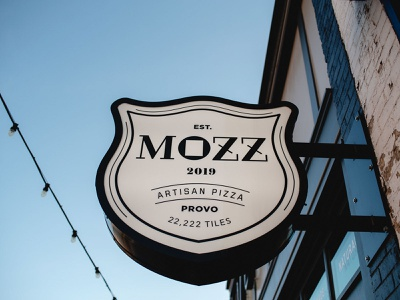 Come on in! typography artisan pizza mozz logo branding