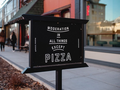 Pizza-Power! mozz pizza singage graphic design typography sign