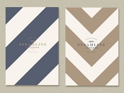 Catalogues steamline pattern catalogue nautical branding identity steamline-luggage vintage