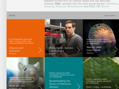 SCIENCE! science webdesign mouse microscopes typography website etc.